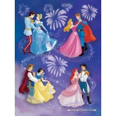 Jigsaw puzzle 150 pcs - Princesses and their Princes - Disney (by Nathan)