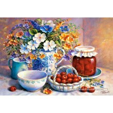 Jigsaw puzzle 500 pcs - Cherries in China Basket (by Castorland)