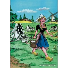 Jigsaw puzzle 1000 pcs - Milkmaid - Red Ears (by Puzzelman)