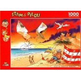 Jigsaw puzzle 1000 pcs - Fun at the Beach - Stam and Pilou (by Puzzelman)