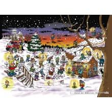 Jigsaw puzzle 1000 pcs - Winterfun - Stam and Pilou (by Puzzelman)