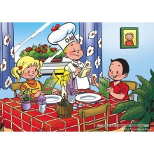 Jigsaw puzzle 99 pcs - Restaurant - Young Spike and Suzy (by Puzzelman)