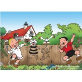 Jigsaw puzzle 99 pcs - Playing outside - Young Spike and Suzy (by Puzzelman)