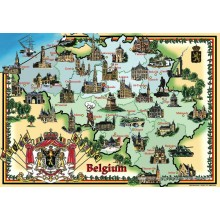 Jigsaw puzzle 1000 pcs - Map of Belgium (by Puzzelman)