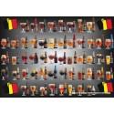 1000 pcs - Belgium Beers (by Puzzelman)