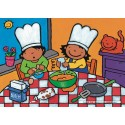 16 pcs - Noa in the Kitchen - Floor puzzles (by Puzzelman)