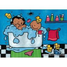 Jigsaw puzzle 16 pcs - Noa in Bath - Floor puzzles (by Puzzelman)