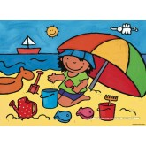 Jigsaw puzzle 16 pcs - Noa at the Beach - Floor puzzles (by Puzzelman)