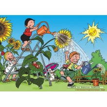 Jigsaw puzzle 99 pcs - Sunflower - Young Spike and Suzy (by Puzzelman)