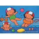 16 pcs - Noa in the Swimmingpool - Floor puzzles (by Puzzelman)
