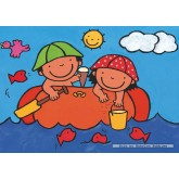 Jigsaw puzzle 16 pcs - Noa in the Boat - Floor puzzles (by Puzzelman)