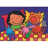 Jigsaw puzzle 16 pcs - Noa in Bed - Floor puzzles (by Puzzelman)