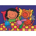 16 pcs - Noa in Bed - Floor puzzles (by Puzzelman)