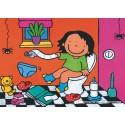 16 pcs - Noa at the Toilet - Floor puzzles (by Puzzelman)