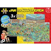 Jigsaw puzzle 1000 pcs - World Cup Football 3 in 1 - Jan van Haasteren (by Jumbo)