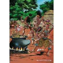 Jigsaw puzzle 1000 pcs - Cooking Pot - Red Ears (by Puzzelman)