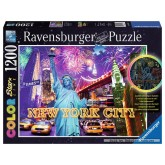Jigsaw puzzle 1200 pcs - Colourful New York - Color Starline (by Ravensburger)