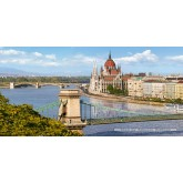 Jigsaw puzzle 4000 pcs - The View over the Danube, Budapest (by Castorland)