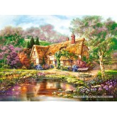 Jigsaw puzzle 3000 pcs - Twilight at Woodgreen Pond (by Castorland)
