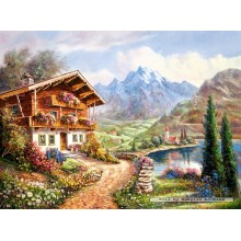 Jigsaw puzzle 2000 pcs - High Country Retreat (by Castorland)