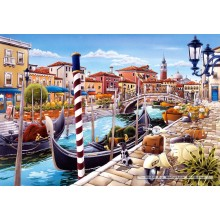 Jigsaw puzzle 1000 pcs - Venetian Canal (by Castorland)