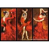 Jigsaw puzzle 1000 pcs - Crimson Dancers (by Castorland)