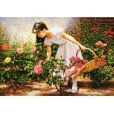 Jigsaw puzzle 1000 pcs - At The Rose Garden (by Castorland)