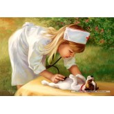 Jigsaw puzzle 500 pcs - Little Nurse (by Castorland)