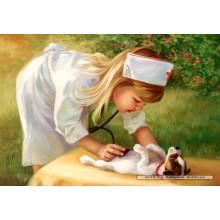 Jigsaw puzzle 500 pcs - Little Nurse (by Castorland)