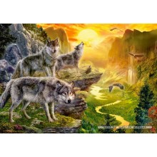 Jigsaw puzzle 500 pcs - Valley of the Wolves (by Castorland)