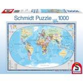 Jigsaw puzzle 1000 pcs - Geographical Worldmap (by Schmidt)