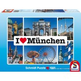 Jigsaw puzzle 1000 pcs - I love Munchen - I Love ... (by Schmidt)