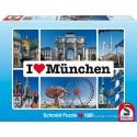 1000 pcs - I love Munchen - I Love ... (by Schmidt)