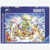 1000 pcs - Christmas with Disney - Disney (by Ravensburger)