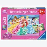 Jigsaw puzzle 12 pcs - Cute Palace Pets - Disney (by Ravensburger)