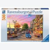 500 pcs - Sunset at Paris (by Ravensburger)