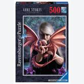 500 pcs - Girl with the Dragon - Anne Stokes (by Ravensburger)
