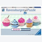 Jigsaw puzzle 500 pcs - Sugar Sweet Cupcakes - Panorama (by Ravensburger)
