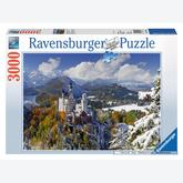 3000 pcs - Neuschwanstein in Winter (by Ravensburger)
