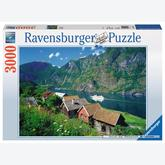 Jigsaw puzzle 3000 pcs - Sognefjord in Norway (by Ravensburger)