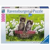 Jigsaw puzzle 1000 pcs - Kittens in a Basket (by Ravensburger)