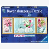1000 pcs - Country Flowers - Triptychon (by Ravensburger)