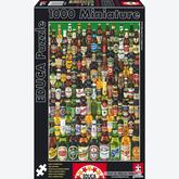 Jigsaw puzzle 1000 pcs - Beers - Miniature (by Educa)