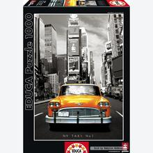 Jigsaw puzzle 1000 pcs - Taxi No 1 - New York - Black and White (by Educa)