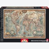 4000 pcs - Map of the World (by Educa)