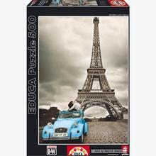 Jigsaw puzzle 500 pcs - Eiffel Tower, Paris - Black and White (by Educa)