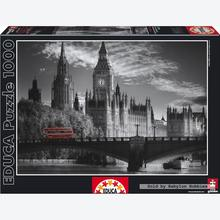 Jigsaw puzzle 1000 pcs - London Bus - Black and White (by Educa)