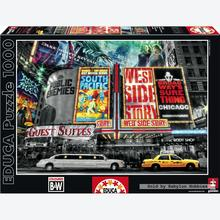 Jigsaw puzzle 1000 pcs - New York Theatre Signs - Black and White (by Educa)