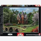 Jigsaw puzzle 1000 pcs - Cobbled Bridge Cottage - Genuine (by Educa)