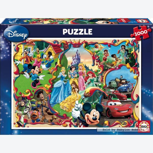 1000 Pcs Disney S Worlds Disney Family By Educa